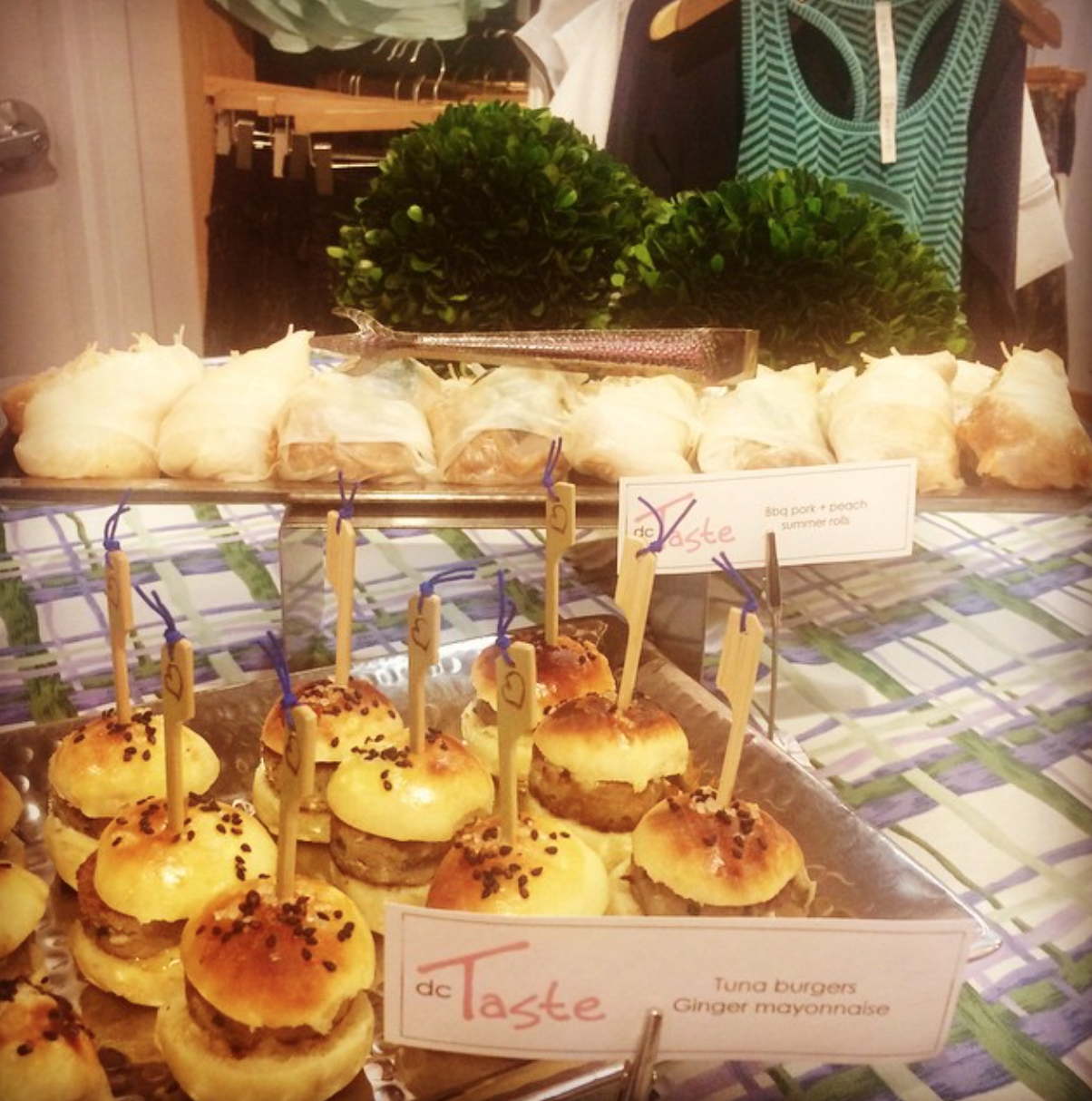 Sandwiches for Lululemon event! Tuna Burgers and BBQ Pork