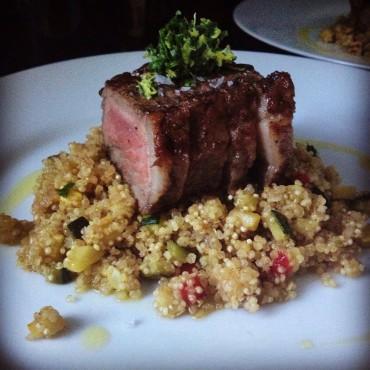 NY Strip and Veggie Quinoa