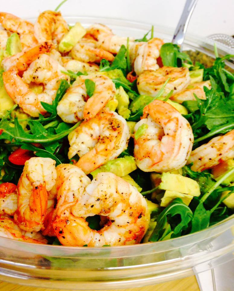 Lemony Shrimp with Avocado