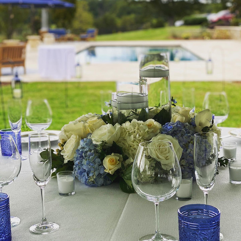 Floral backyard event