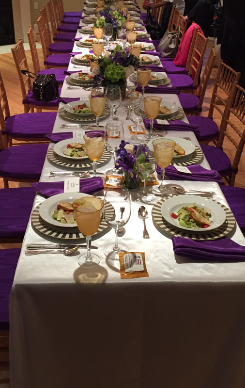 Colorful swanky place setting